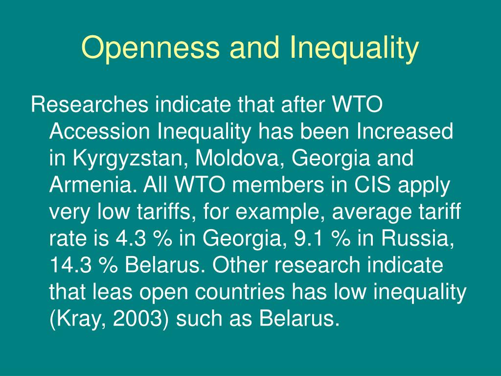 Openness and Inequality