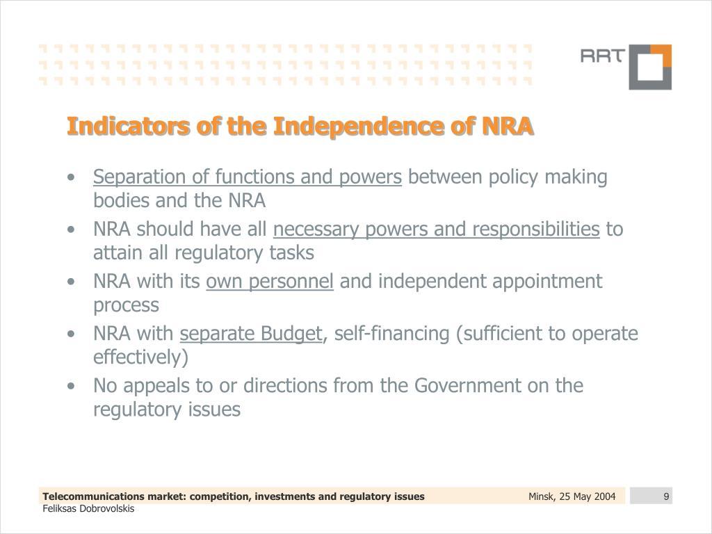 Indicators of