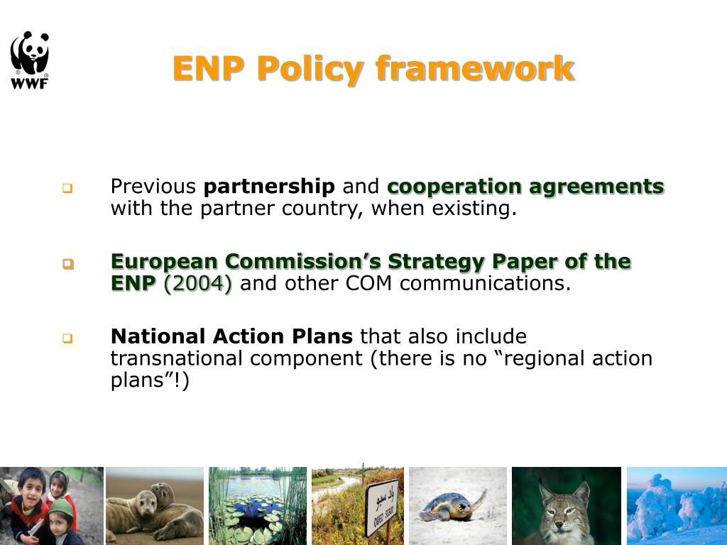 ENP Policy framework