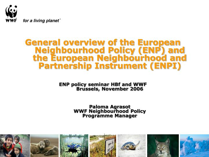 General overview of the European Neighbourhood Policy (ENP) and the European Neighbourhood and Partn...