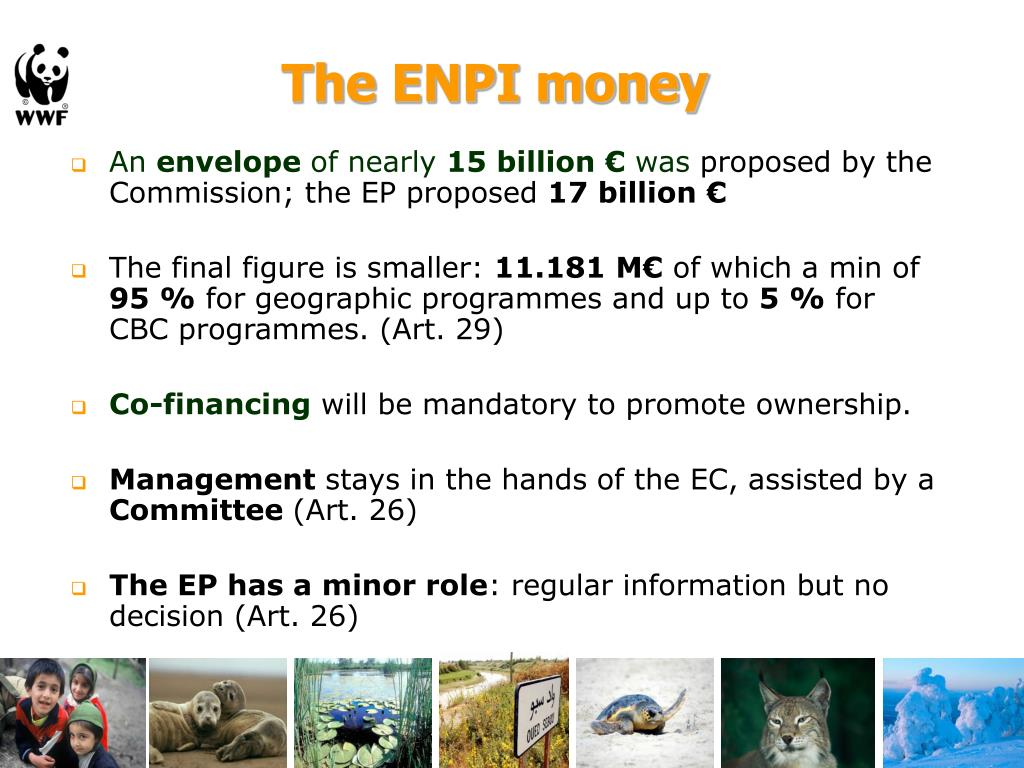 The ENPI money