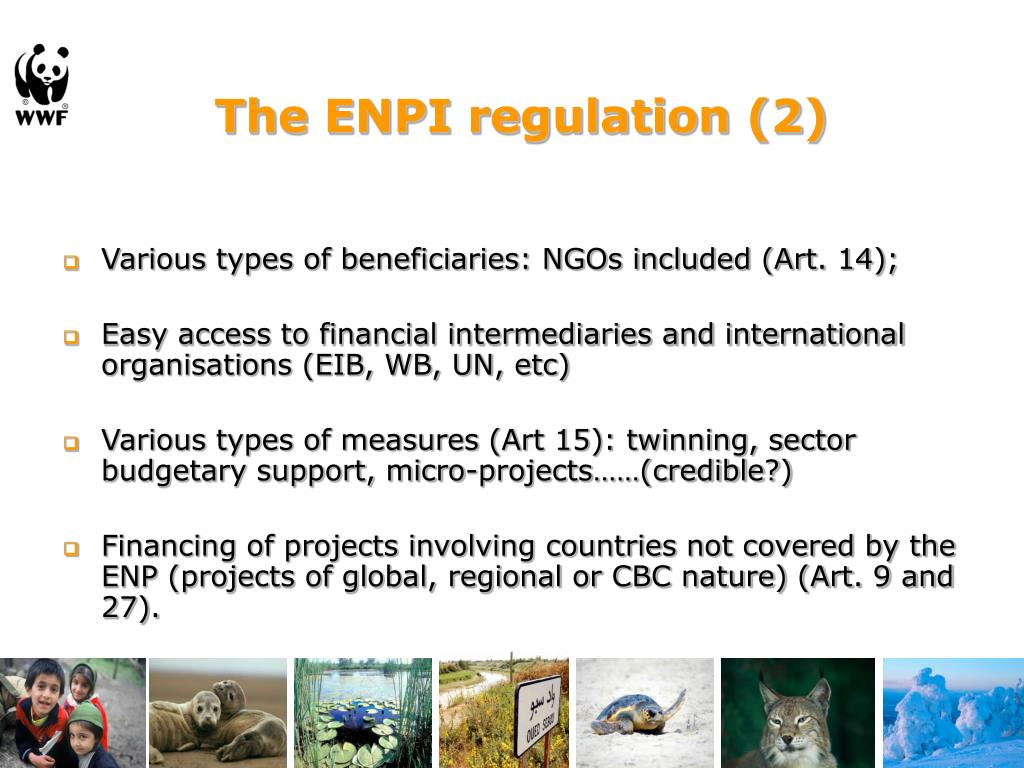 The ENPI regulation (2)