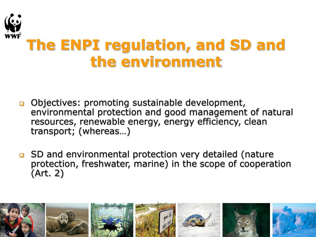 The ENPI regulation, and SD and the environment