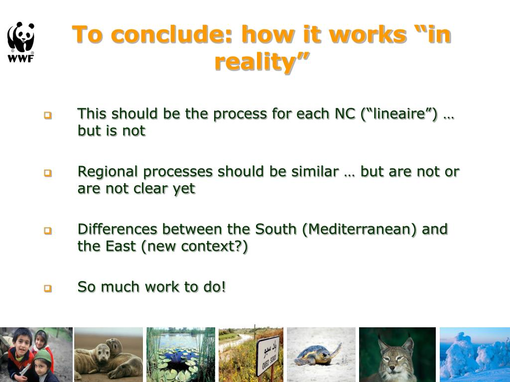 "To conclude: how it works ""in reality"""