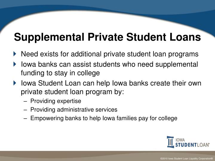 Supplemental Private Student Loans