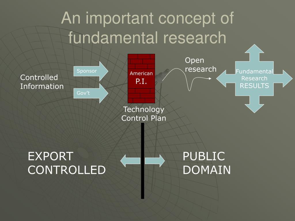 An important concept of fundamental research