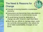 the need reasons for change