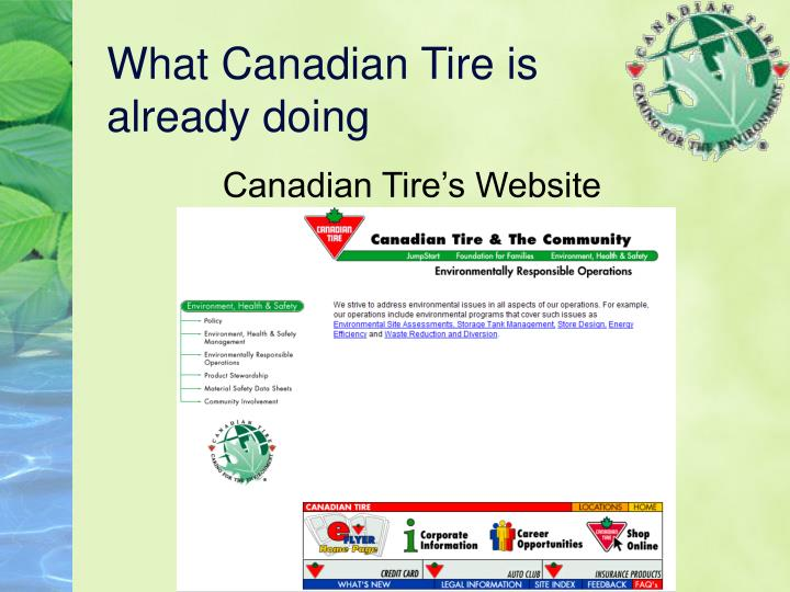 What Canadian Tire is already doing
