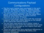 communications payload configurations3