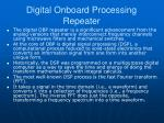 digital onboard processing repeater