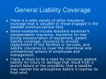 general liability coverage