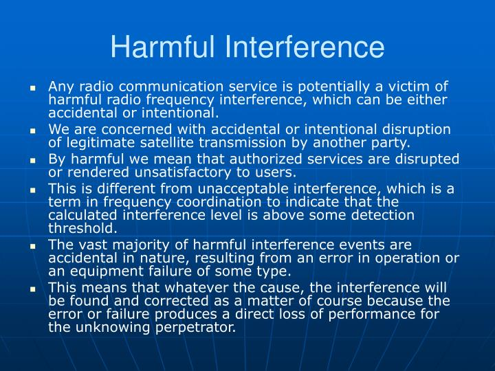Harmful Interference