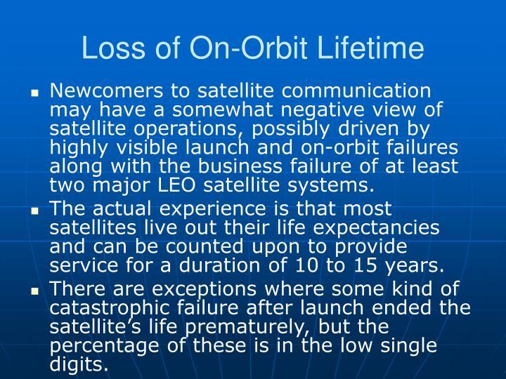 Loss of On-Orbit Lifetime