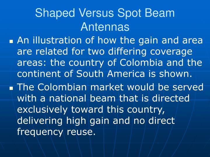 Shaped Versus Spot Beam Antennas