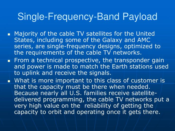 Single-Frequency-Band Payload