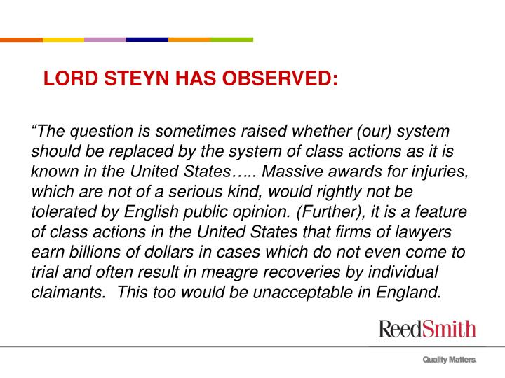 Lord steyn has observed