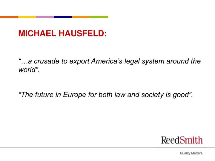 MICHAEL HAUSFELD: