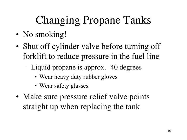 Changing Propane Tanks