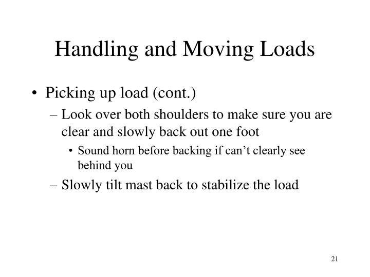 Handling and Moving Loads