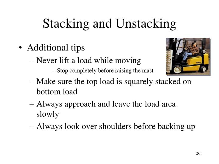 Stacking and Unstacking