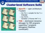 cluster level software suite19