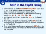 skif in the top50 rating