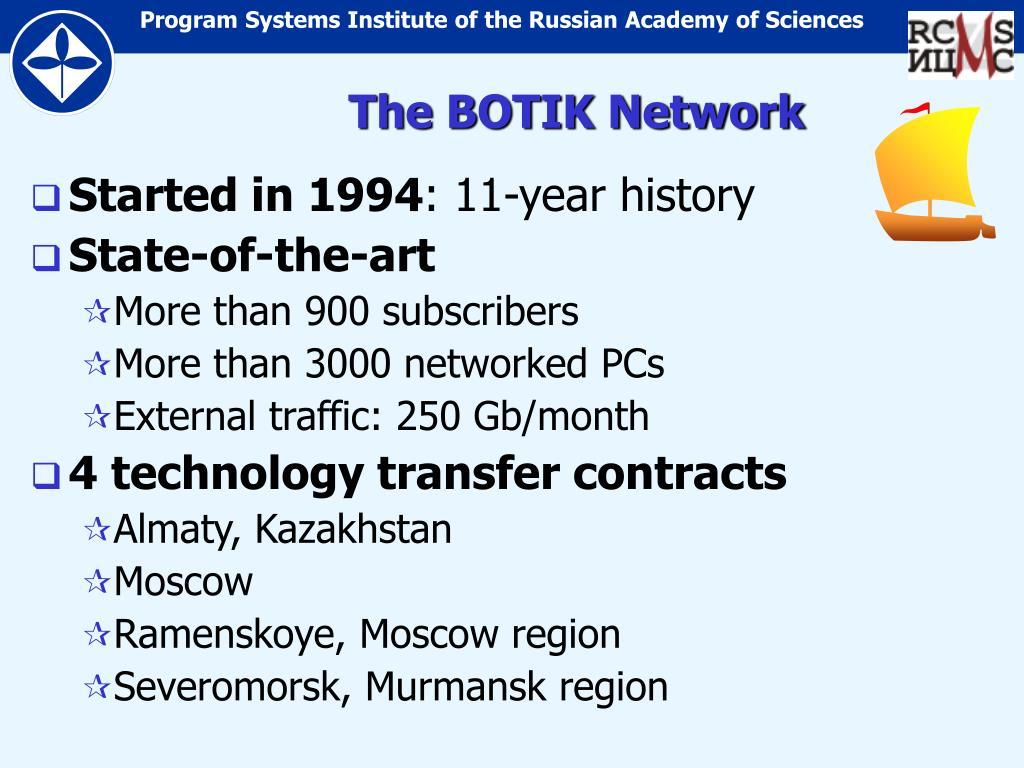 The BOTIK Network