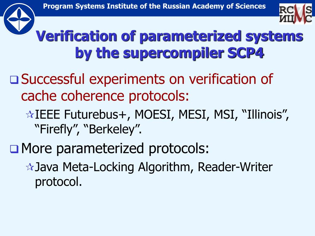 Verification of parameterized systems