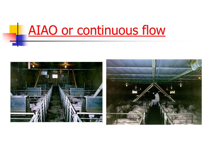 AIAO or continuous flow