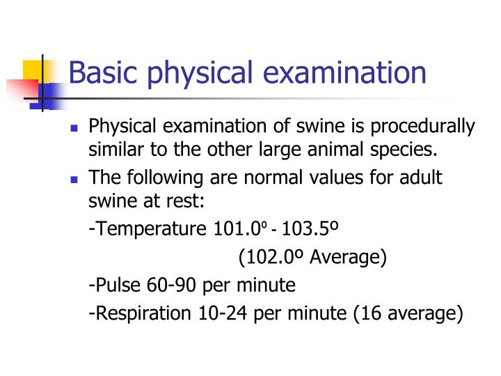 Basic physical examination