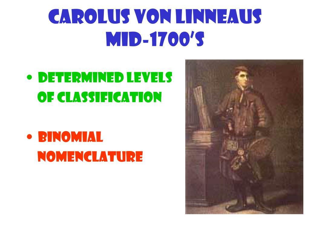 Carolus von Linneaus