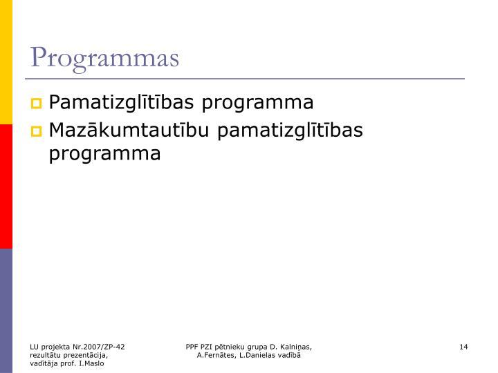 Programmas