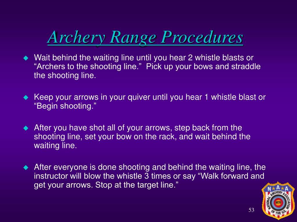 Archery Range Procedures