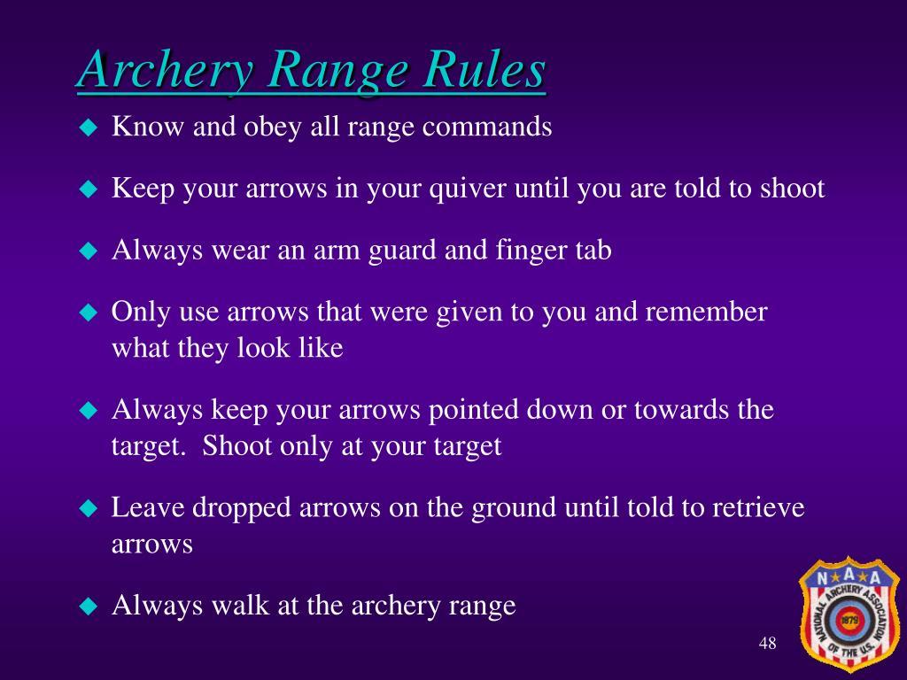 Archery Range Rules