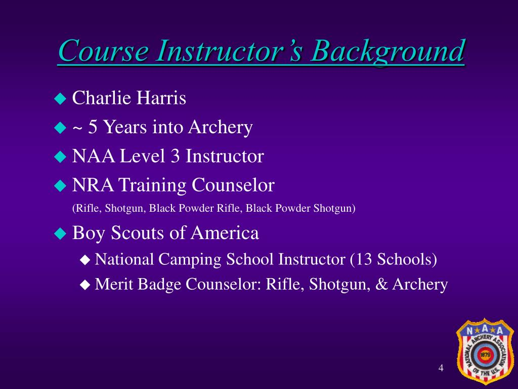 Course Instructor's Background