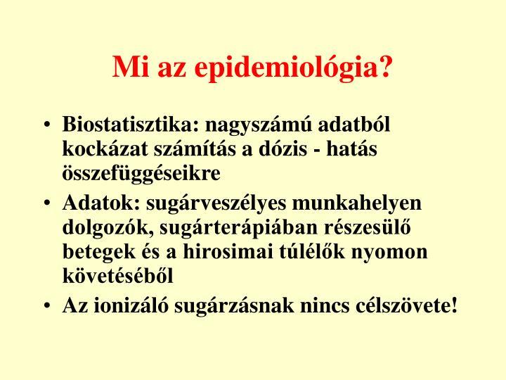 Mi az epidemiológia?