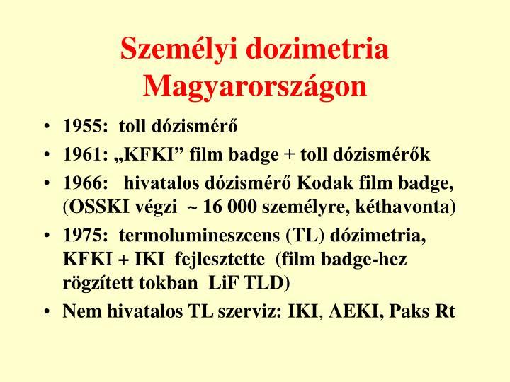Személyi dozimetria Magyarországon
