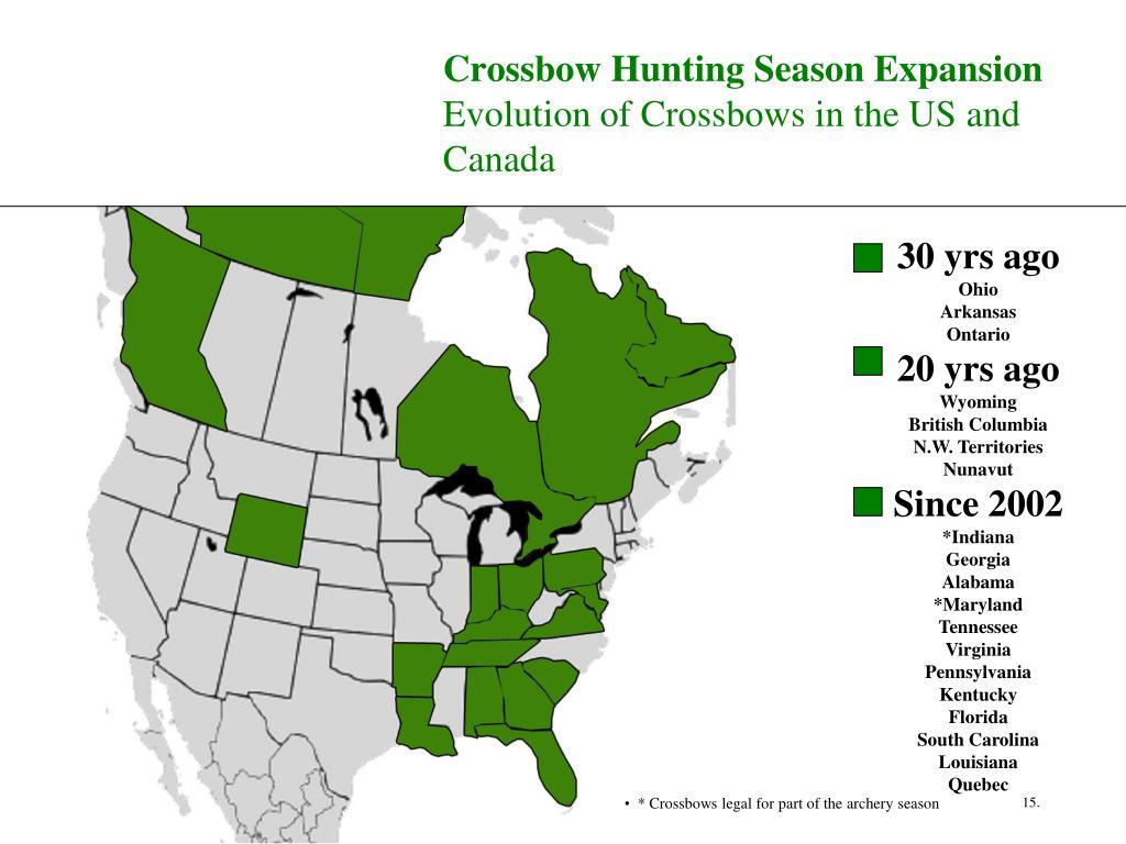 Crossbow Hunting Season Expansion