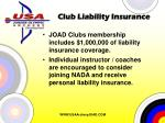 club liability insurance