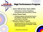 high performance program