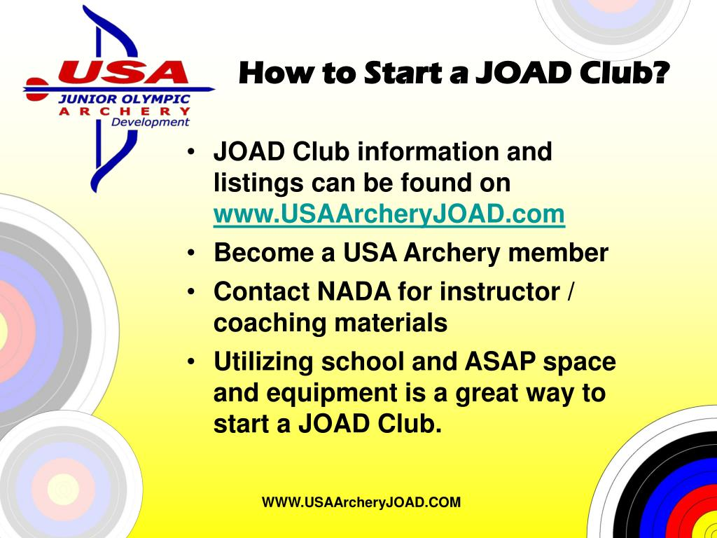 How to Start a JOAD Club?