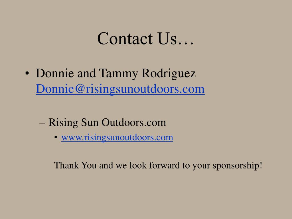 Contact Us…