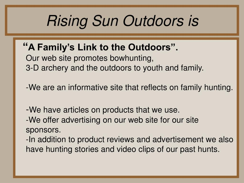 Rising Sun Outdoors is