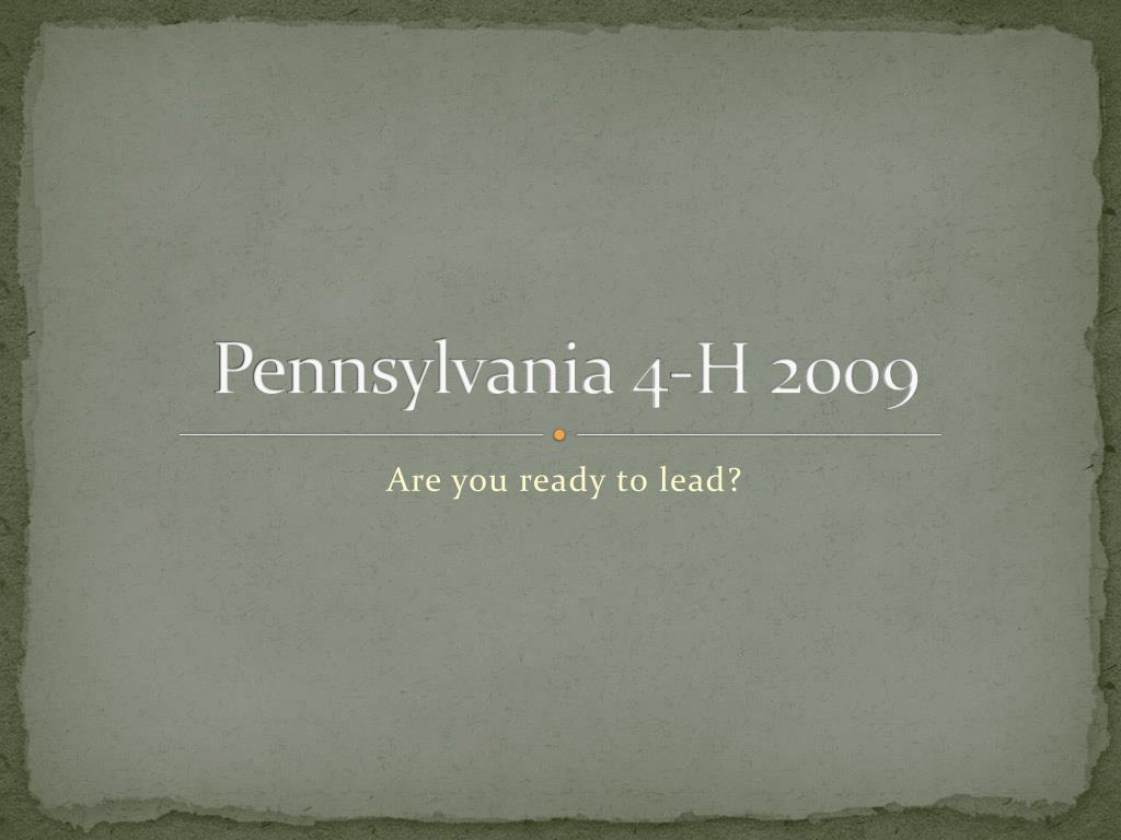 Pennsylvania 4-H 2009
