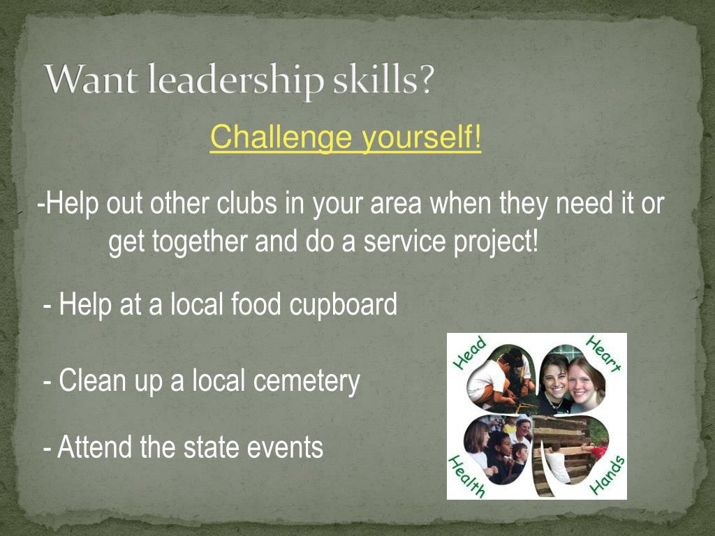 Want leadership skills?