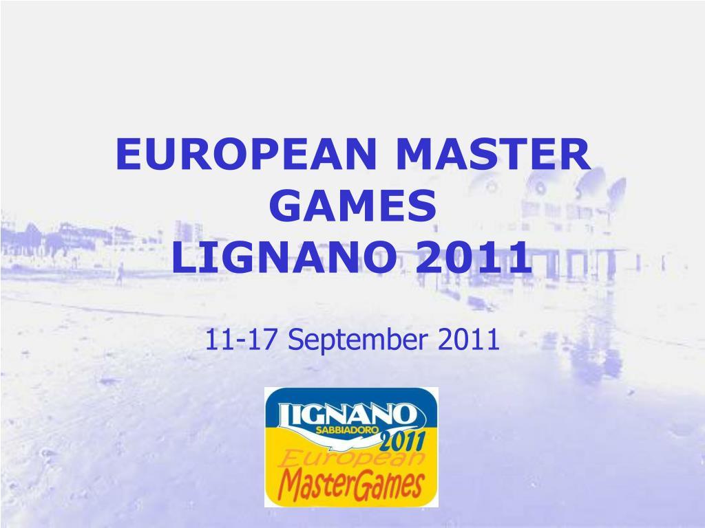 EUROPEAN MASTER GAMES