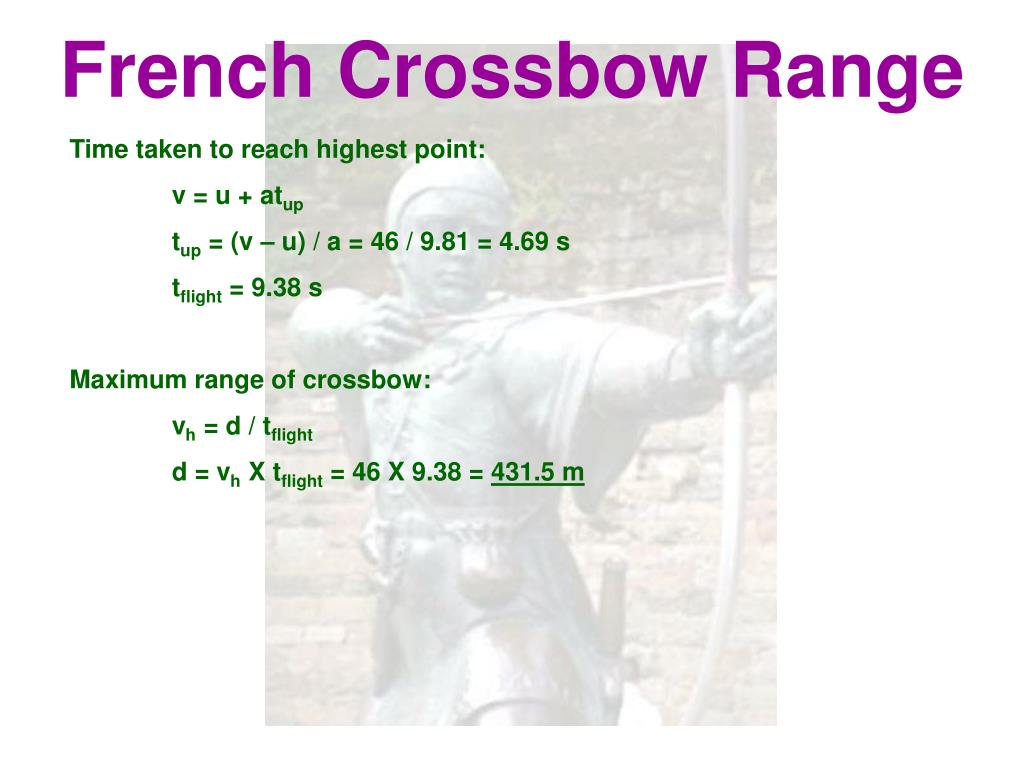 French Crossbow Range