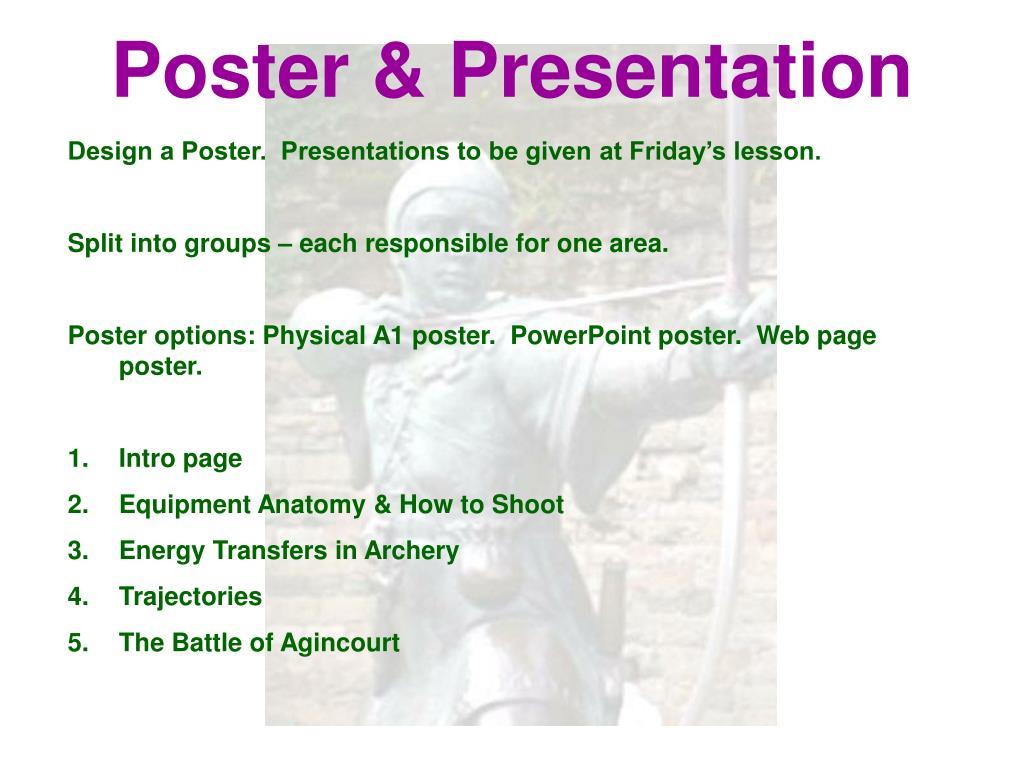 Poster & Presentation