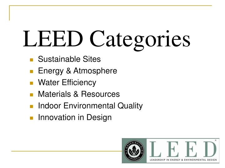 LEED Categories