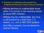4 detection of collections during the post antigenemia recovery phase of acute infections